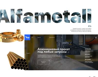 Prototype of the website «Alfa Metal»