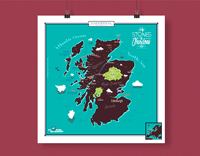 Stones & Chardons - Travel map of Scotland