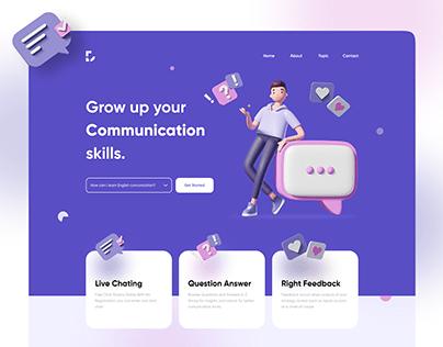 Digital Learning Website | Header Exploration
