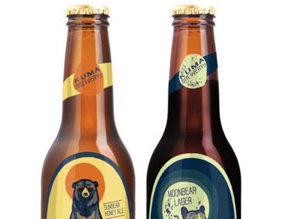 Kuma Brewery - Sunbear Honey Ale and Moonbear Lager