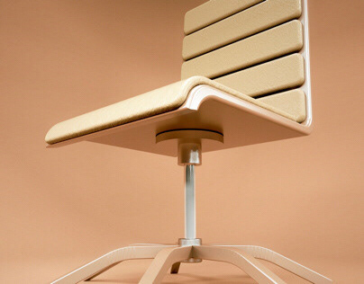 Thin office chair