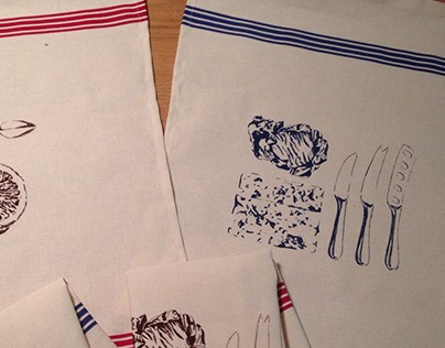 Printing on French Dish towel