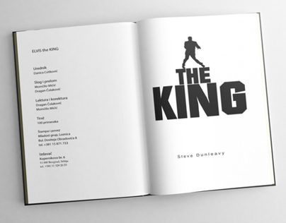 ELVIS THE KING book cover design