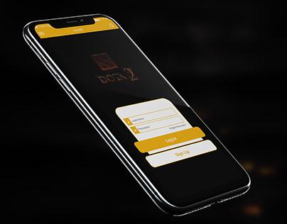 Dota 2 app Ui design