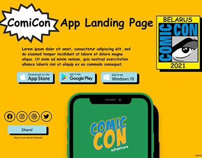 "What if ""ComicCON Belarus"" Landing page...#DailyUI #003"