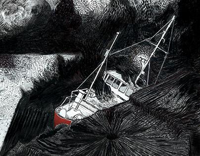 Sinking ship drawings