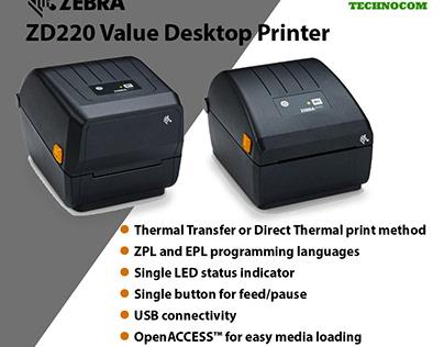 Zebra ZD220 Value Desktop Printer at Cheap Rate