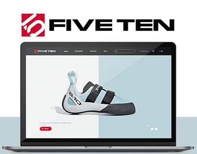Five Ten Website Concept   UX/UI