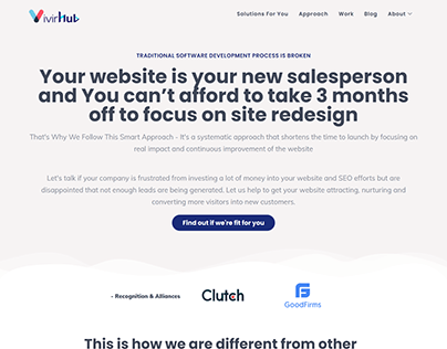 Elementor Page Builder Website For A Tech Agency