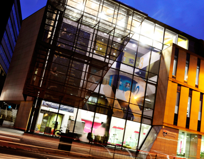 INTO Newcastle University branding and signage