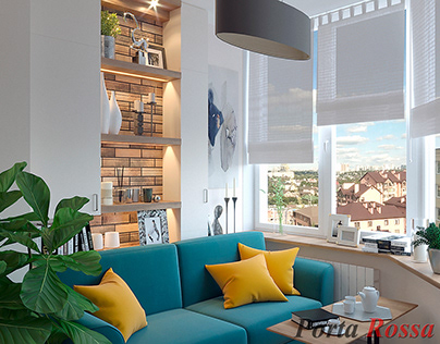 Apartment in Contemporary style (33,8 sq.m)