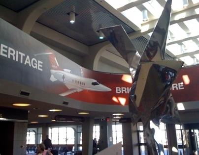 3D Aircraft Illustration Art Hanging