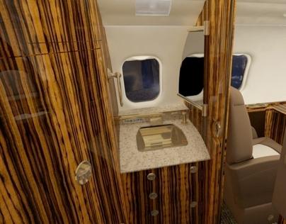 3D Aircraft Illustrations Interiors Styles