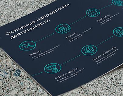 Буклет для строительной компании Альын-Строй