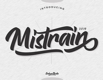 Free Mistrain Script Modern Font