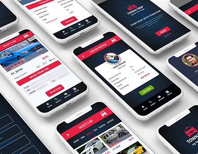 RIDE SHARING MOBILE APPS PSD DESIGN