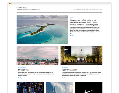 Chronicles, A multipurpose blogging theme.