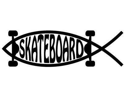 SKATE-FISH Sticker Design