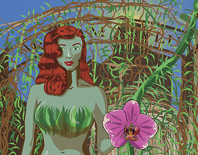 Poison Ivy Escapes Arkham Poster