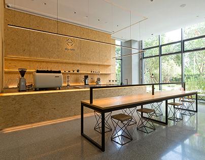 v.i. + interior design for sky cafe