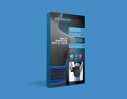 Gel Pack for Back Pain Packaging Design