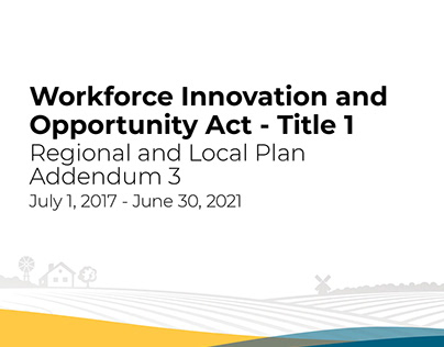 Workforce Innovation and Opportunity Act Regional Plan