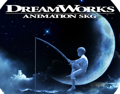 Trivia. The Dreamworks logo features a young boy sitting on a moon while fishing. The general idea for the logo was from company's co-founder Steven whomeverf.cferg originally wanted a computer generated image, whereas Visual Effects Supervisor Dennis Muren, of Industrial Light and Magic suggested a hand-painted one.