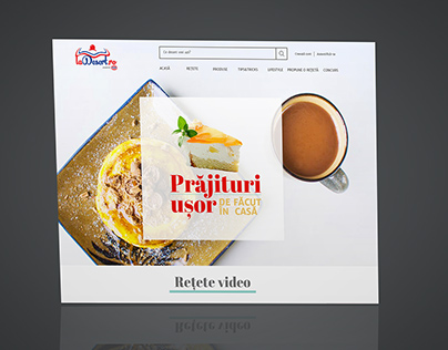 Homepage redesign for a dessert website