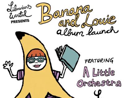 Banana and Louie album launch flyer