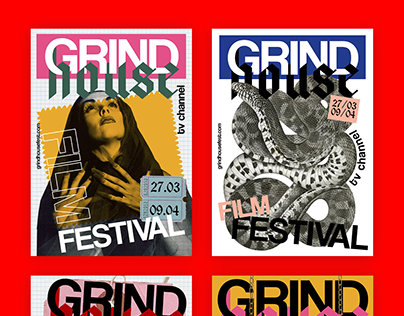 Grindhouse film festival posters and website