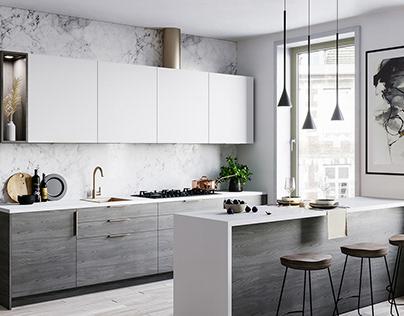Modern Kitchen - Interior Renders