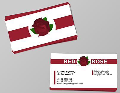 Red Rose - business card