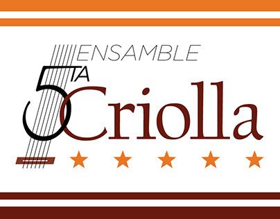 """Logo for musical group """"Quinta Criolla"""""""