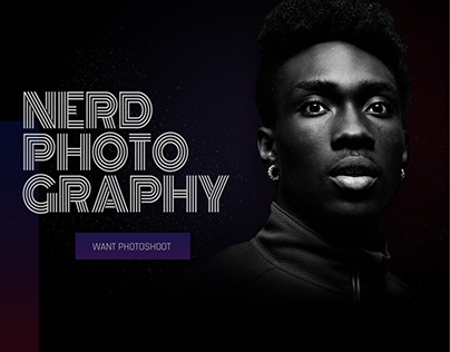 NERD Photography | Concept Landing Page