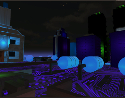 A collapse of the technological hyperreality Unity Game