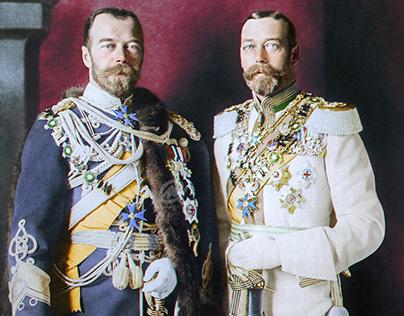 Tsar Nicholas II and King George V, 1913