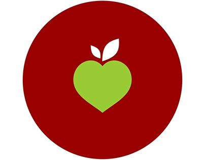 Maçã do Amor - logotipo e identidade