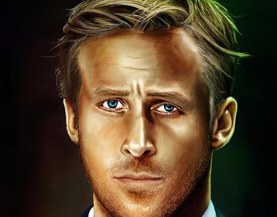 Ryan Gosling illustration 2013