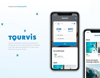 The best online travel agency, Tourvis 's mobile design