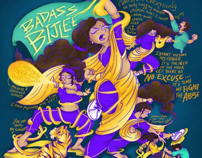 Badass Bijlee- Illustration for Harper's Bazaar