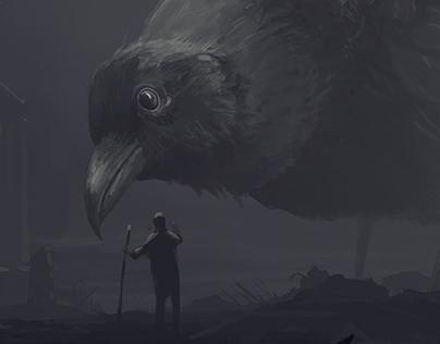 Tonights sketch... Man meets bird.