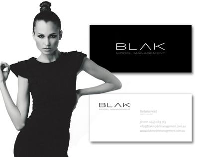 BLAK Model Management Corporate Branding