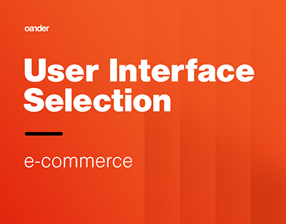 UI Selection | e-commerce