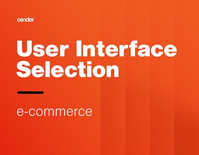 UI Selection | e-commerce