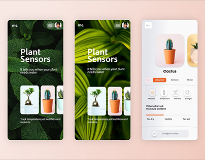Plant sensor app design