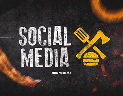 Social Media Mustache | Ruffus Burger House