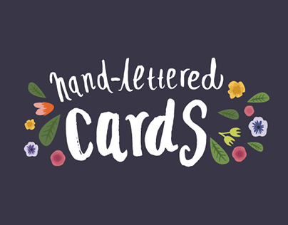 Hand-lettered Cards