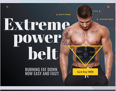 Fitness Product Promo site