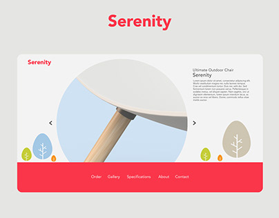 Serenity Chair | Web | Mobile UI- UX