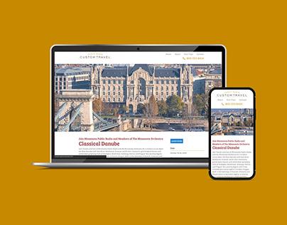 Web Design and Development - Public Radio Custom Travel